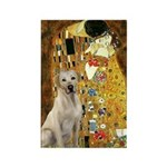 The Kiss-Yellow Lab Rectangle Magnet