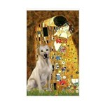 The Kiss-Yellow Lab Sticker (Rectangle)