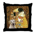 The Kiss-Yellow Lab Throw Pillow