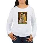 The Kiss-Yellow Lab Women's Long Sleeve T-Shirt