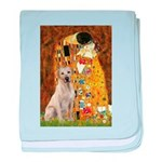 The Kiss-Yellow Lab baby blanket
