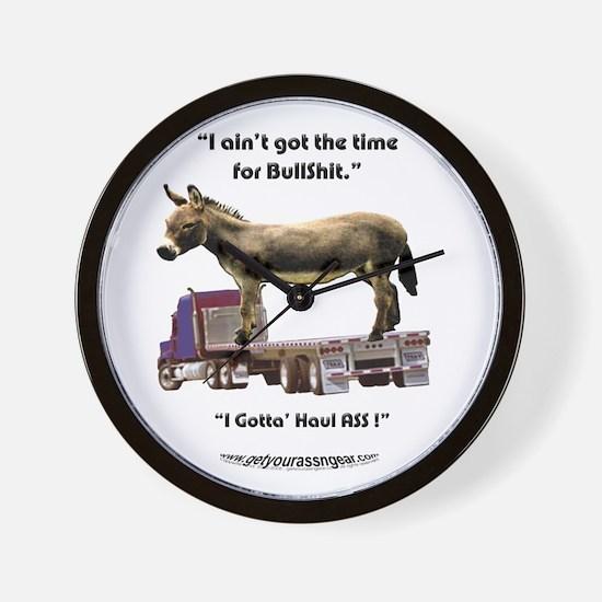 No Time for Bullshit Wall Clock