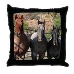 3 Roan Horses Throw Pillow
