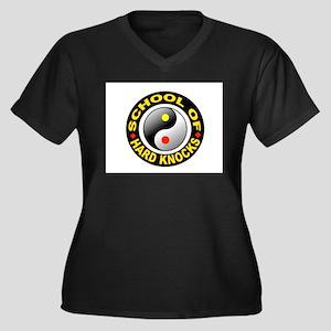 GRADUATED Women's Plus Size V-Neck Dark T-Shirt