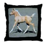 Palomino Foal Throw Pillow