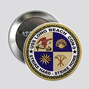 USS Long Beach CGN 9 Button