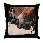 2 Horse Noses Throw Pillow