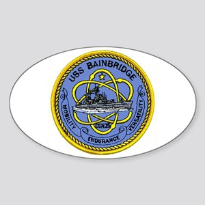 USS Bainbridge CGN 25 Oval Sticker