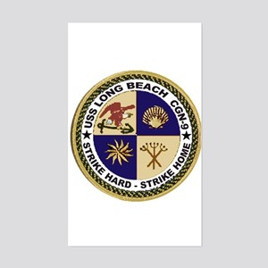 USS Long Beach CGN 9 Rectangle Sticker