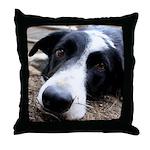 Sad-Eyed Dog Throw Pillow