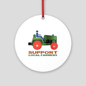 Farm Tractor Ornament (Round)