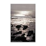 California Beach at Sunset--mini poster