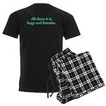 Hugs and Biscuits Men's Dark Pajamas
