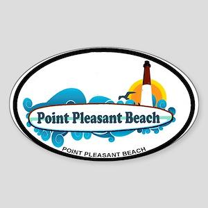 Point Pleasant Beach NJ - Surf Design Sticker (Ova