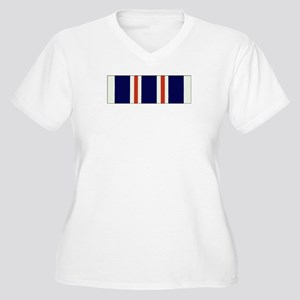 "CAP ""Find"" Ribbon Women's Plus Size V-Neck T-Shirt"