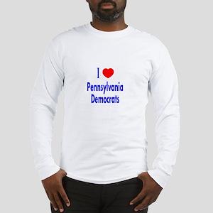 I Love Pennsylvania Democrats Long Sleeve T-Shirt
