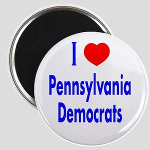 I Love Pennsylvania Democrats Magnet