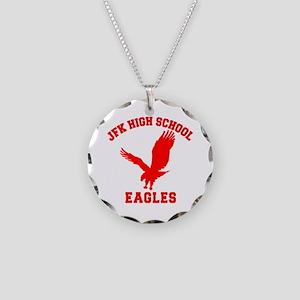 Seinfeld JFK High School Necklace Circle Charm