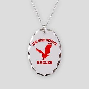 Seinfeld JFK High School Necklace Oval Charm