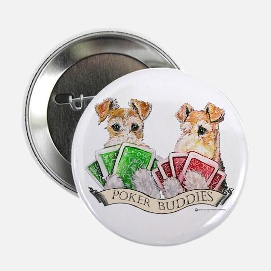 Fox Terrier Poker Buddies Button