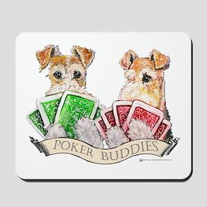 Fox Terrier Poker Buddies Mousepad
