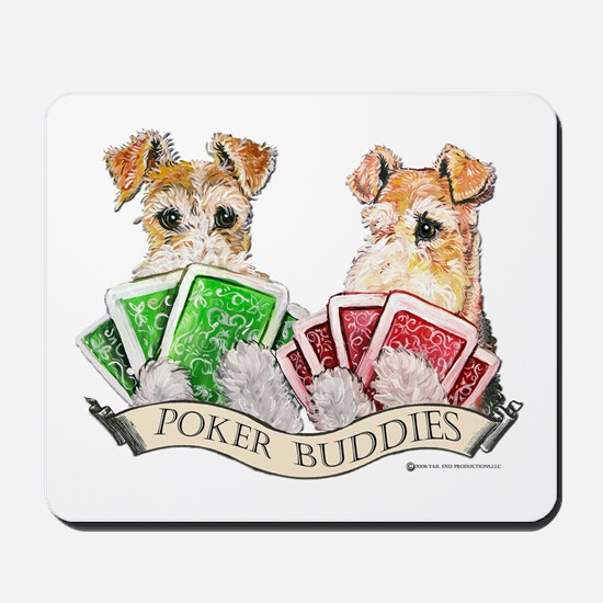 Fox Terrier Poker Buddies Mousepad