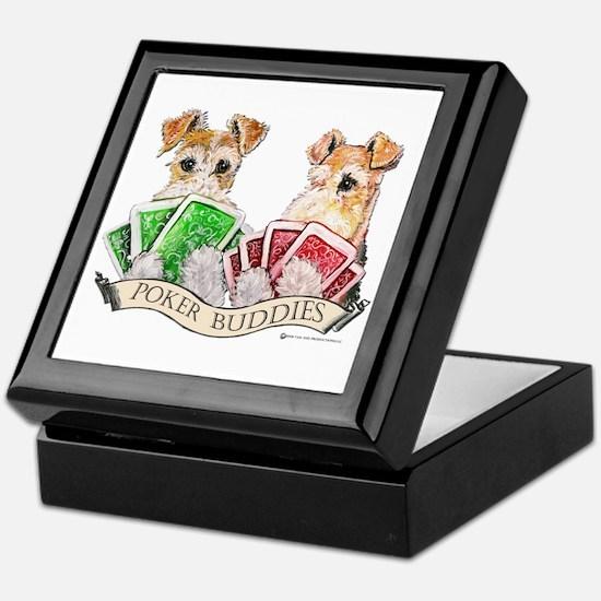 Fox Terrier Poker Buddies Keepsake Box