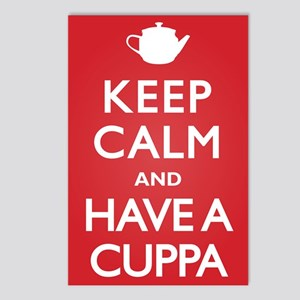 Keep Calm Have a Cuppa Postcards (Package of 8)