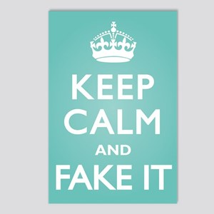 Keep Calm Fake It Postcards (Package of 8)