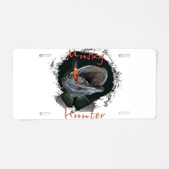 musky Aluminum License Plate
