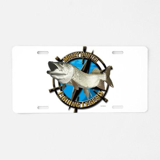 Musky Legend Aluminum License Plate