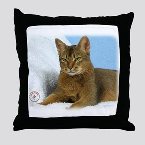 Abyssinian Cat 9Y009D-020 Throw Pillow
