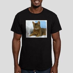 Abyssinian Cat 9Y009D-020 Men's Fitted T-Shirt (da