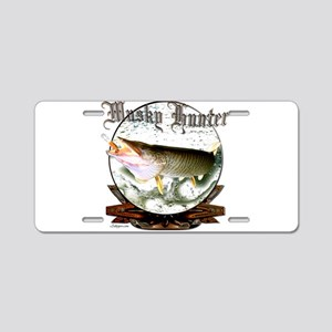 Musky Hunter,2 Aluminum License Plate