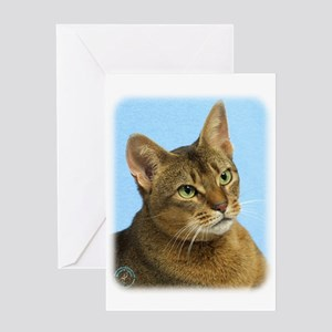 Abyssinian Cat 9Y009D-036 Greeting Card