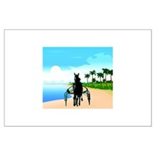 Tropical Trotter Large Poster