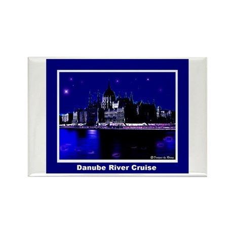 Danube River Cruise Rectangle Magnet (100 pack)