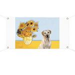 Sunflowers-Yellow Lab 7 Banner