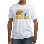 Sunflowers-Yellow Lab 7 Fitted T-Shirt