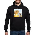 Sunflowers-Yellow Lab 7 Hoodie (dark)