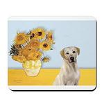 Sunflowers-Yellow Lab 7 Mousepad