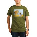 Sunflowers-Yellow Lab 7 Organic Men's T-Shirt (dar