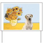 Sunflowers-Yellow Lab 7 Yard Sign