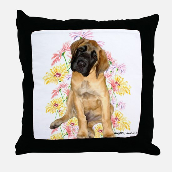Mastiff 87 Throw Pillow