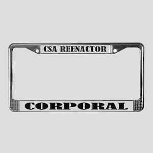 CSA Reenactor Corporal License Frame