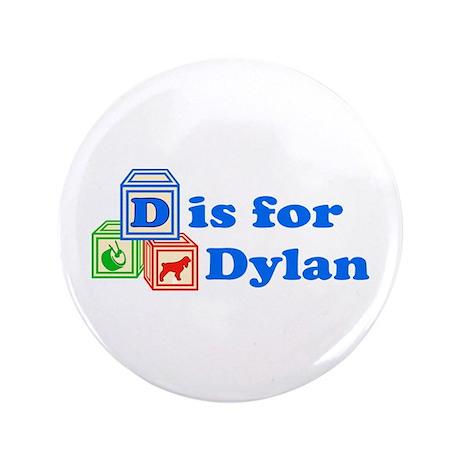 "Baby Blocks Dylan 3.5"" Button"