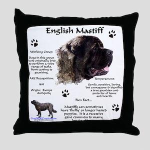 Fluffy Mastiff 23 Throw Pillow