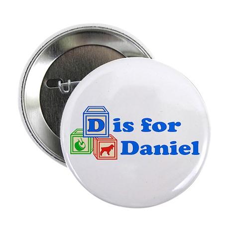 "Baby Blocks Daniel 2.25"" Button (10 pack)"