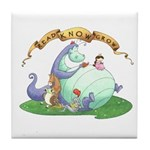 Dragon Reads Tile Coaster