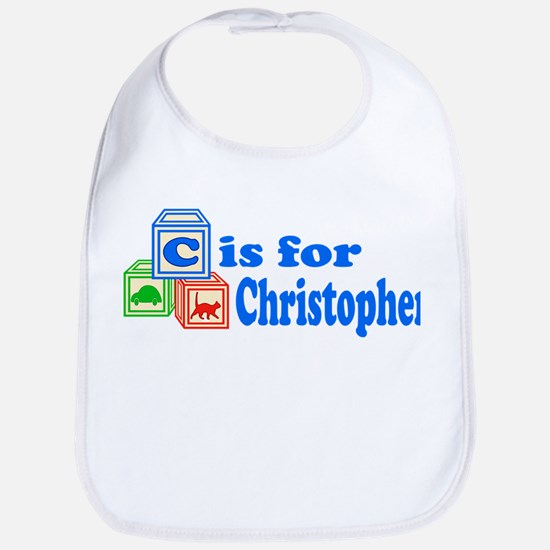 Baby Name Blocks - Christopher Bib